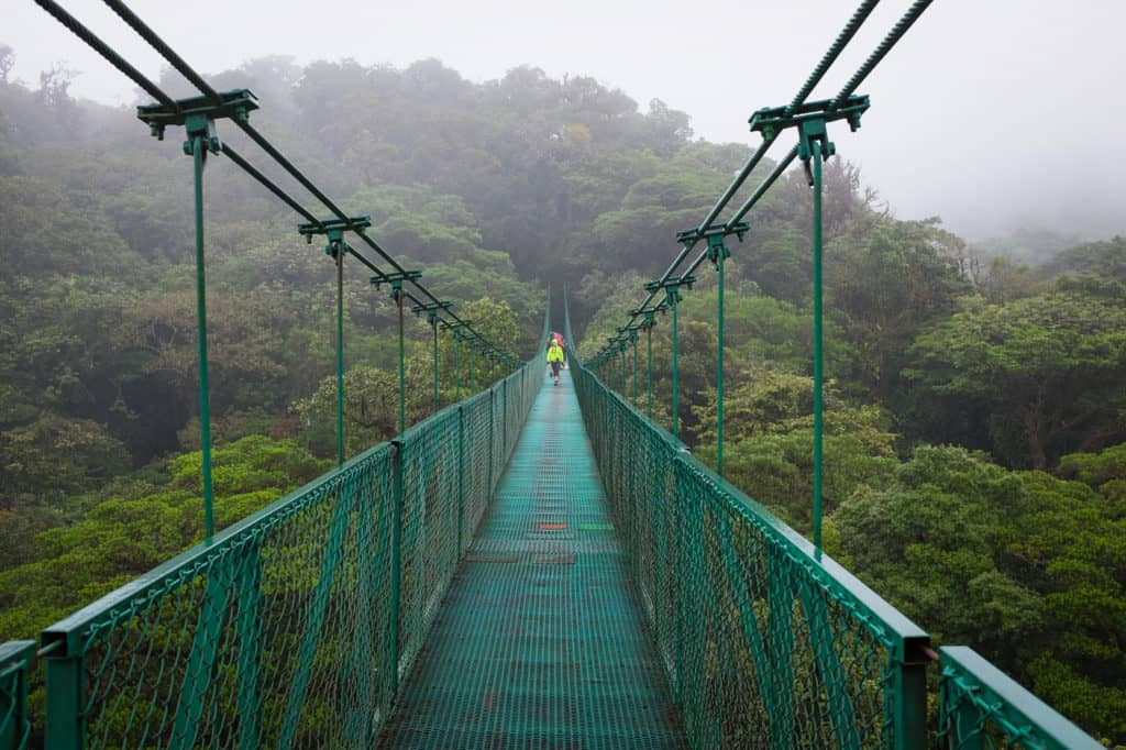 hanging bridge monteverde costa rica